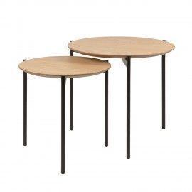 Set mesas centro NORTON roble