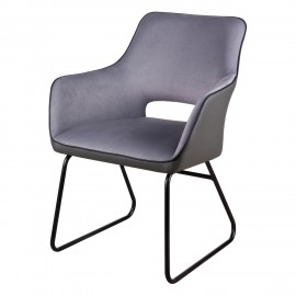 Silla DELIA gris light