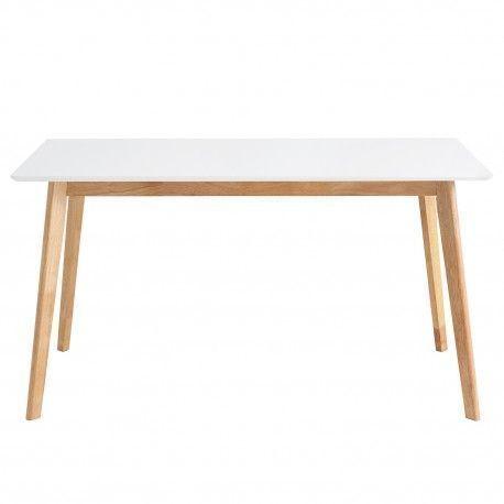 Mesa fija ALICE 120 roble/blanco