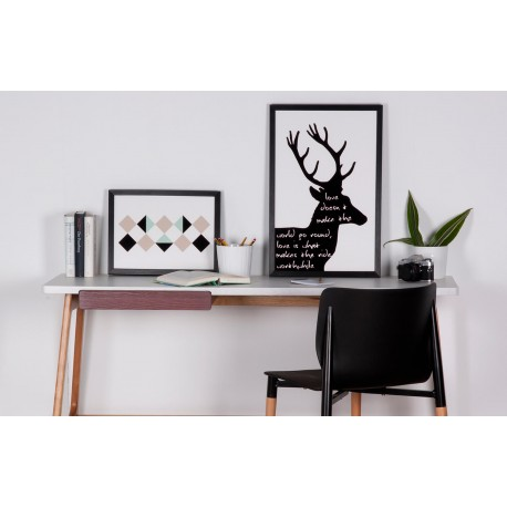 Cuadro BLACK DEER negro 40x60