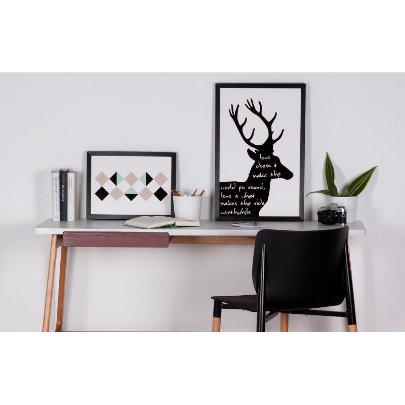 Cuadro BLACK DEER con marco negro de 40 x 60 |somcasa