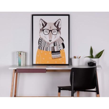 Cuadro FOX negro 60x80