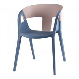 Silla WILLA azul-gris light