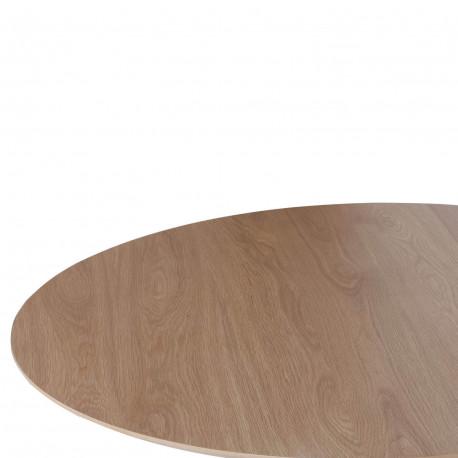 Mesa redonda fija NORA 100 roble-blanco