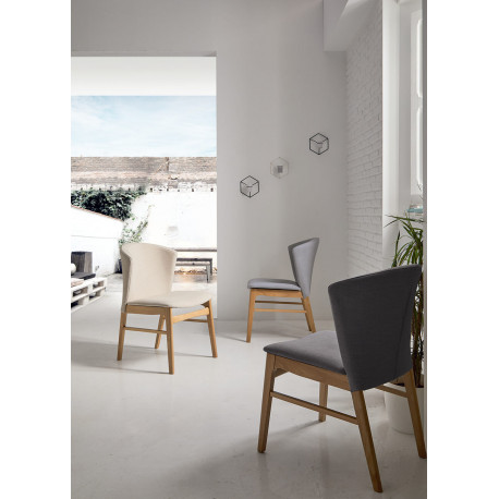 Silla MARA roble gris light
