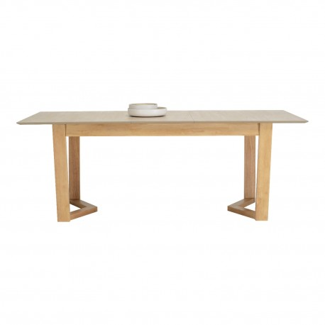 Mesa ext. ANGIE 160 roble/gris