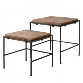 Set mesa auxiliar ZAID madera