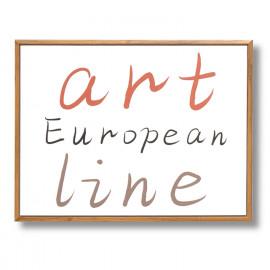 Cuadro ART LINE roble 40x30