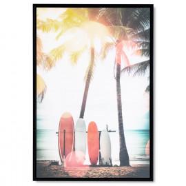 Cuadro SURF negro 40x60