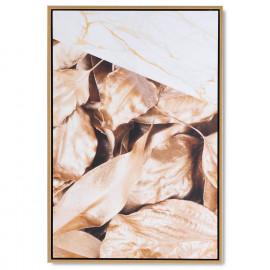 Cuadro GOLDEN LEAVE negro 40x60