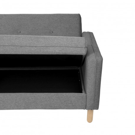 Sofá cama DELHI gris dark