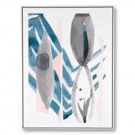 Cuadro PIKAS 1 blanco 60x80