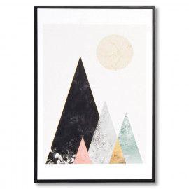 Cuadro MOUNTAINS negro 40x60