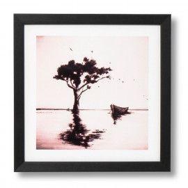 Cuadro TREE negro 30x30