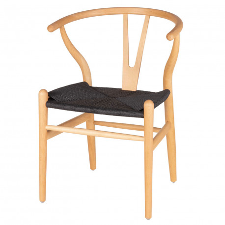 Silla ADA natural asiento negro