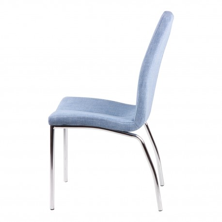 Silla CARLA azul light