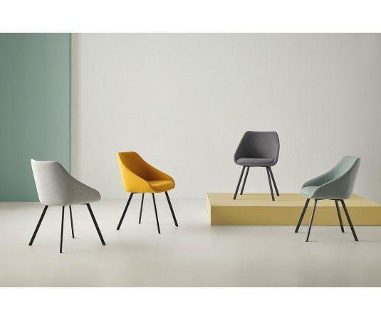 Sillas elegantes y modernas madera tapizadas pl stico - Sillas tapizadas modernas ...