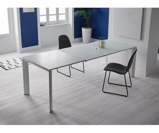 Mesa cristal extensible comedor mesa de comedor circular for Mesa circular extensible