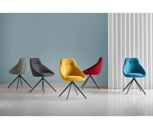 Sillas tapizadas de metal, sillas con patas metal y tapizadas en ...
