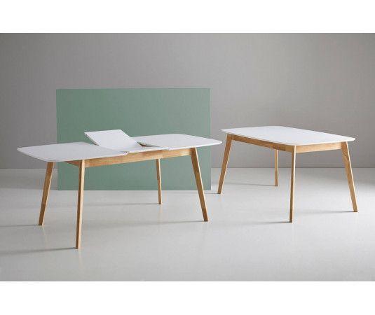 Mesas madera extensible de comedor, cocina, roble, nogal - somcasa